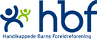Logoen til Handikappede barns foreldreforening (HBF).
