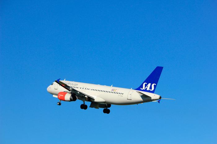 Bilde av et SAS-fly i lufta.